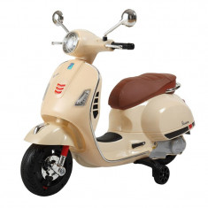 Motocicleta pentru copii Vespa, suporta maxim 30 kg, 3 ani+