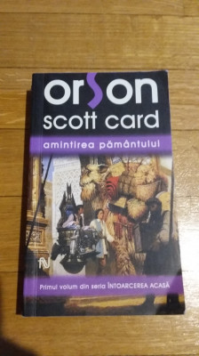 Orson Scott Card - Amintirea pamantului Editura Nemira Colectia Nautilus SF foto