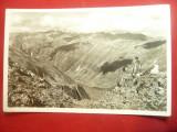 Ilustrata - Ciobani pe varf de munte - Carpatii Meridionali , interbelica