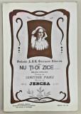 NU TI-OI ZICE... Partitura de Dimitrie Panu si Jercea. Dedicata A.S.R. Principesa Elisabeta