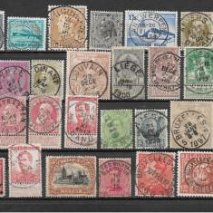 Lot timbre Belgia, stampile LUX, Stampilat