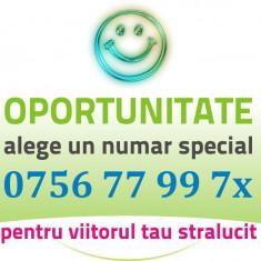 Numar FRUMOS Orange - 0756.77.99.7x - VIP aur usor gold numere usoare cartela