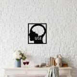 Cumpara ieftin Decoratiune pentru perete, Ocean, metal 100 procente, 48 x 53 cm, 874OCN1053, Negru