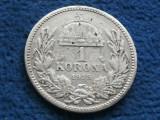 1 KORONA 1915 UNGARIA, Europa, Argint