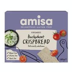 Crispbread (Painici) din Hrisca Integrala Fara Gluten Bio Amisa 120gr Cod: 5032722315570