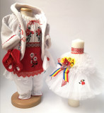 Cumpara ieftin Set Traditional Botez Fetita - Costumas + Lumanare