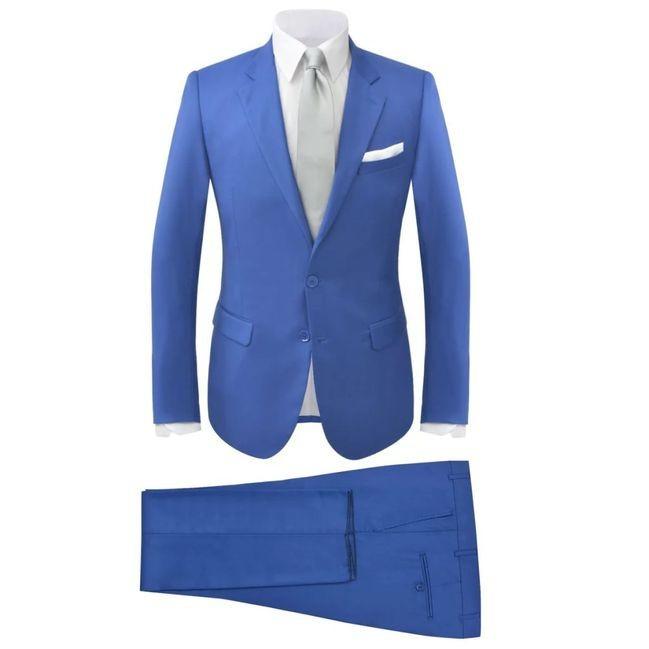 Costum bărbătesc 2 piese cu cravată mărimea 56, albastru regal