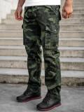 Pantaloni plus size verde-inchis cargo cu curea Bolf CT8501