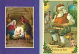 România, 2 felicitări duble de Crăciun
