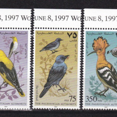 Palestina  1997  fauna  pasari   MI  67-71  MNH  w64