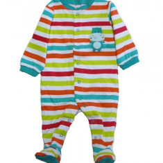 Salopeta / Pijama bebe cu dungi Z115, 1-2 ani, 1-3 luni, 3-6 luni, 6-9 luni, 9-12 luni, Multicolor