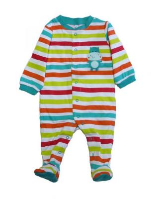 Salopeta / Pijama bebe cu dungi Z115 foto