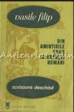Din Amintirile Unor Interpreti Romani. Scrisoare Deschisa - Vasile Filip
