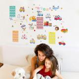 Cumpara ieftin Sticker decorativ perete Giftify Baby City oras pentru camera copiilor