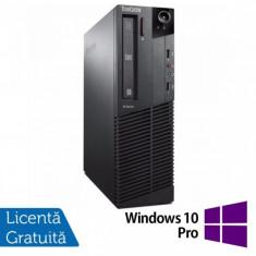 Calculator Lenovo ThinkCentre M83 SFF, Intel Core i7-4770 3.40GHz, 4GB DDR3, 500GB SATA, DVD-ROM + Windows 10 Pro