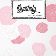 "Bullet Journal: Dot Grid, Quarterly Guided, Pink Rose Rose Apple, Notebook, 8"""" X 10,"""" 90 Page: Small Journal Notebook Diary for Adults"