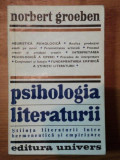 PSIHOLOGIA LITERATURII-NORBERT GROEBEN BUCURESTI 1978
