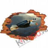"Sticker ""Wall Crack"" Vultur 12 - 120 x 80 cm"