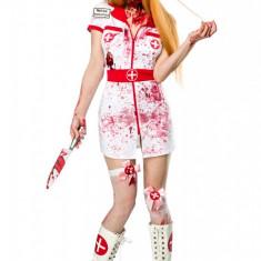 Costum Asistenta Zombie, Halloween, 15