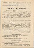 Contract ucenic coafor 1945 Medias proprietar evreu Friedmann Francisc