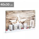 Tablou de Crăciun cu LED - 40 x 30 cm