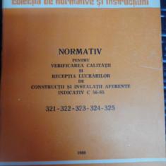 Normativ Pentru Verificarea Calitatii Si Receptia Lucrarilor - Colectiv ,548891