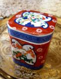 Cutie de ceai din portelan, model japonez Imari