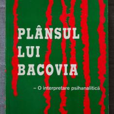 Lucian Tamaris - Plânsul lui Bacovia. O interpretare psihanalitică (cu autograf)