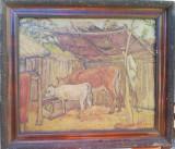 Tablou pictură Marcel Olinescu, Animale, Ulei, Impresionism