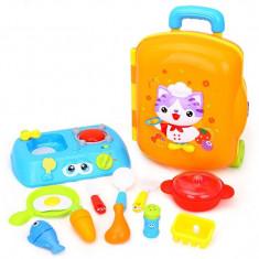 Set troler Micul Bucatar cu accesorii Hola Toys