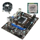 Kit Placa de Baza Refurbished MSI H81M-P33, Intel Core i3-4130, Cooler