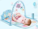 Saltea de Activitati Muzicala, LittleDomi, Interactiva, cu Pian si Jucarii Detasabile pentru Bebelusi si Copii, +0 luni