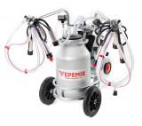 Aparat de muls vaci VEPEMIR 2 posturi si 1 bidon Aluminiu 40 litri