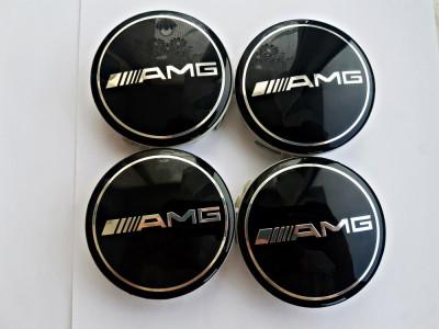Capace jante aliaj Mercedes AMG set 4 buc 75mm diametru foto