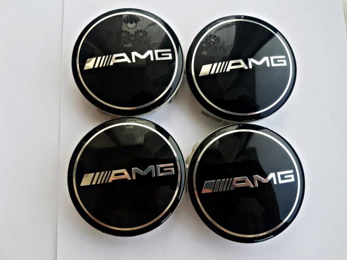 Capace jante aliaj Mercedes AMG set 4 buc 75mm diametru