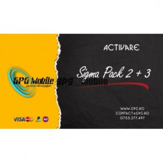Activare Sigma Pack 2 + Pack 3