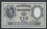 A5165 Sweden Suedia 10 kronor 1958 SEMNATURI DIFERITE UNC aUNC