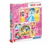 Cumpara ieftin Puzzle Super Color Princess, 2x60 piese