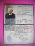 HOPCT CARTE DE IDENTITATE LUCRATOR FEROVIAR 1943 FRANTA-CARTE D IDENTITE FRANCE