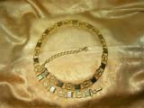 Centura curea placata aur 24k, Terrier, colectie, cadou, vintage