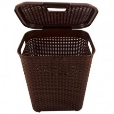 Violet Cos de rufe din plastic 45L