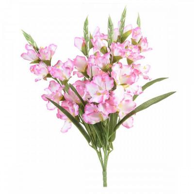 Buchet de flori artificiale gladiole roz 58 H foto
