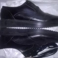 Vand pantofi de dama din piele naturala Oxford-black
