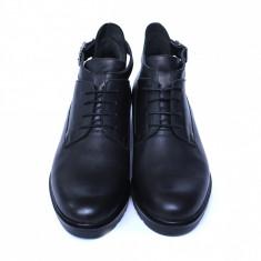 Pantofi dama din piele naturala, AML, Negru, 36 EU