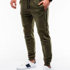 Pantaloni barbati, de trening, verde, slim fit, sport, street, model nou - P743