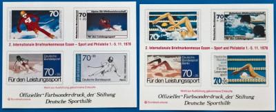 GERMANIA-RFG -65/68-  Vinete-speciale-Flori si sport-MNH foto