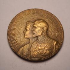 Medalie Regele Ferdinand Regina Maria Incoronarea de la Alba Iulia 1922 Frumoasa