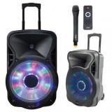 Boxa portabila activa iluminat 12inch 30 cm/ USB/SD/BT/FM IBIZA