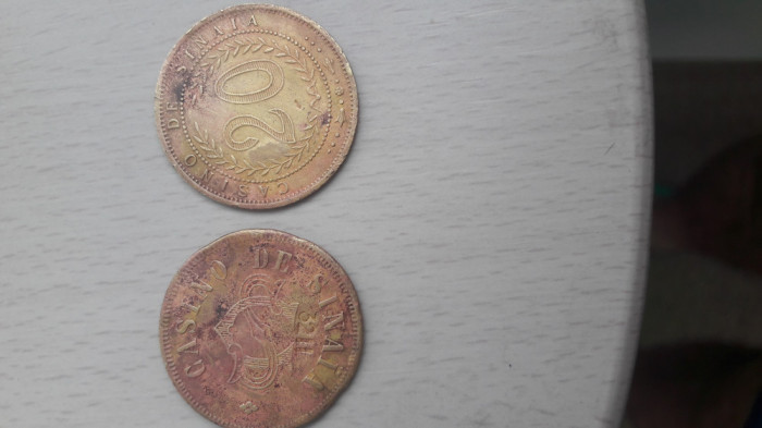 "2 Monede jeton ""Casino de Sinaia """