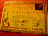 Diploma Master Class- Fundatia Romana de Chitara- Festival Internat.2016